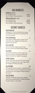 Intrigue Bottle Menu: Large Format Champagne