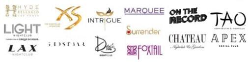 Vegas Nightclubs Logos 2019