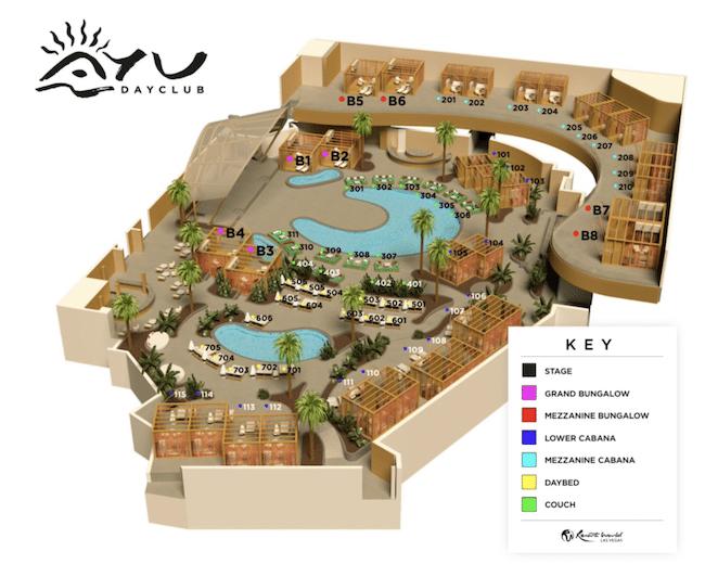 AYU Vegas Table Map